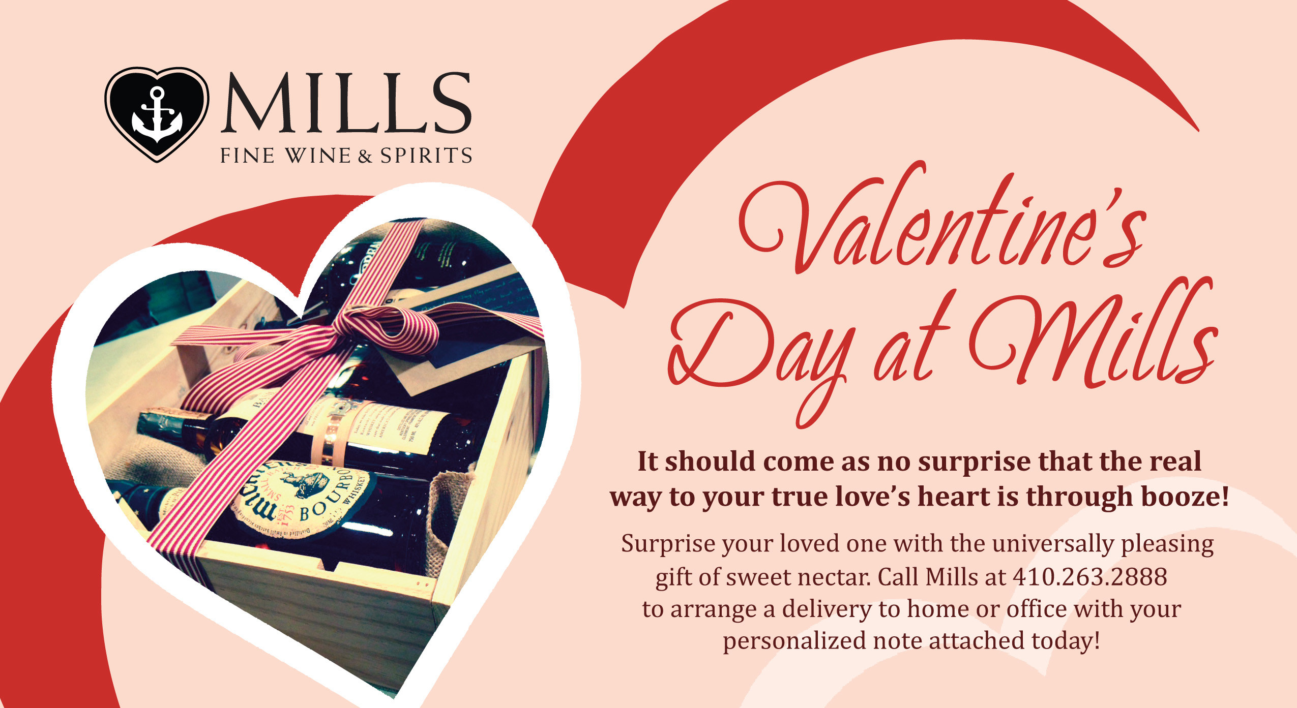 Valentines Day Gift Deliveries @ Mills Fine Wine & Spirits | Annapolis | Maryland | United States